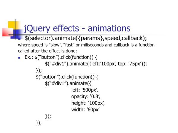 PPT - The jQuery library PowerPoint Presentation, free ...