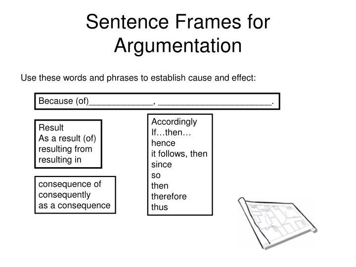 cause and effect sentence frames | Viewframes.org