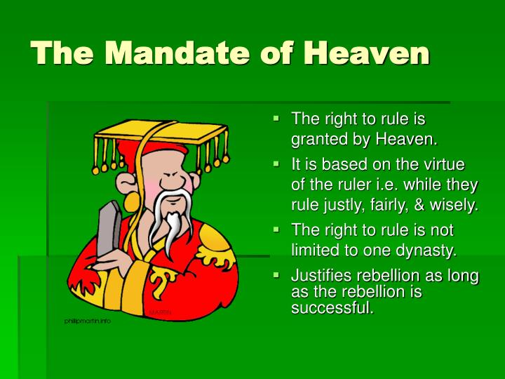 PPT - The Mandate of Heaven PowerPoint Presentation, free download -  ID:5230819
