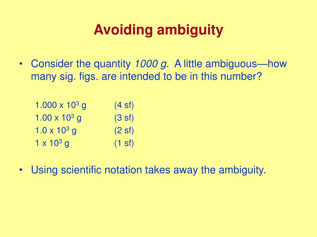 Sig Fig Rules For Scientific Notation