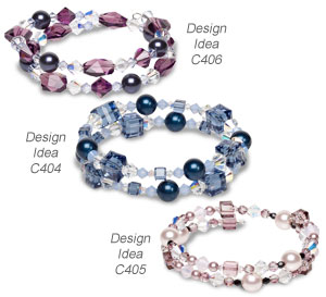 design idea c404 design idea c405 and design idea c406 - Beaded Bracelet Design Ideas