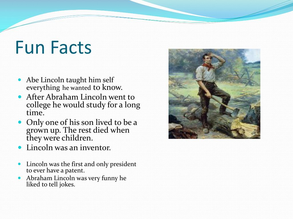 Abraham Lincoln Fun Facts For Kindergarten