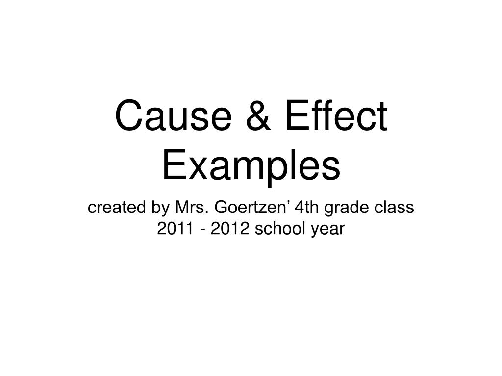 Cause And Effect Examples 4th Grade Fourth Grade Grade 4