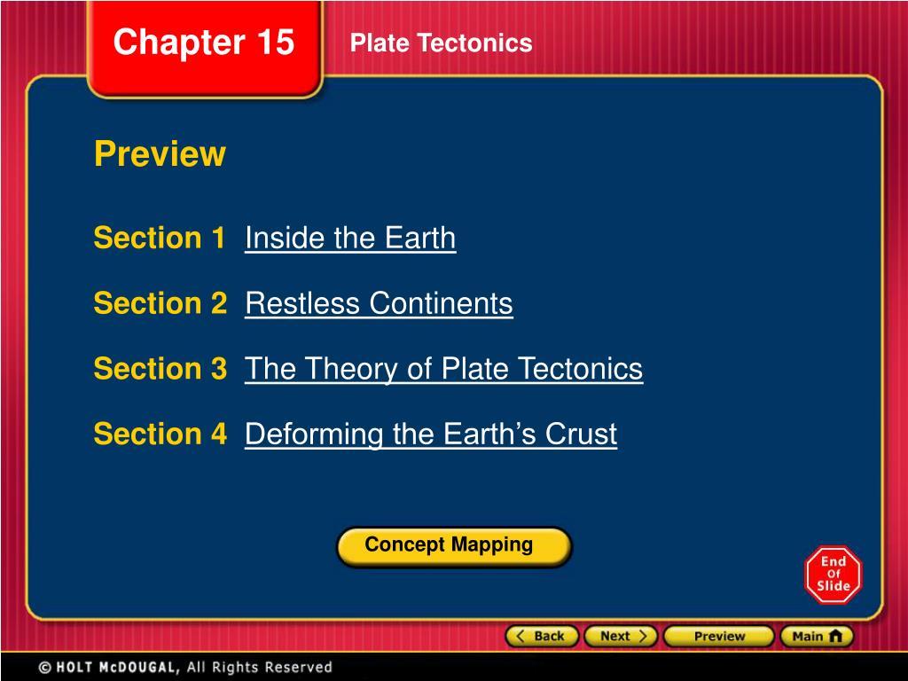 Bestseller The Theory Of Plate Tectonics Worksheet