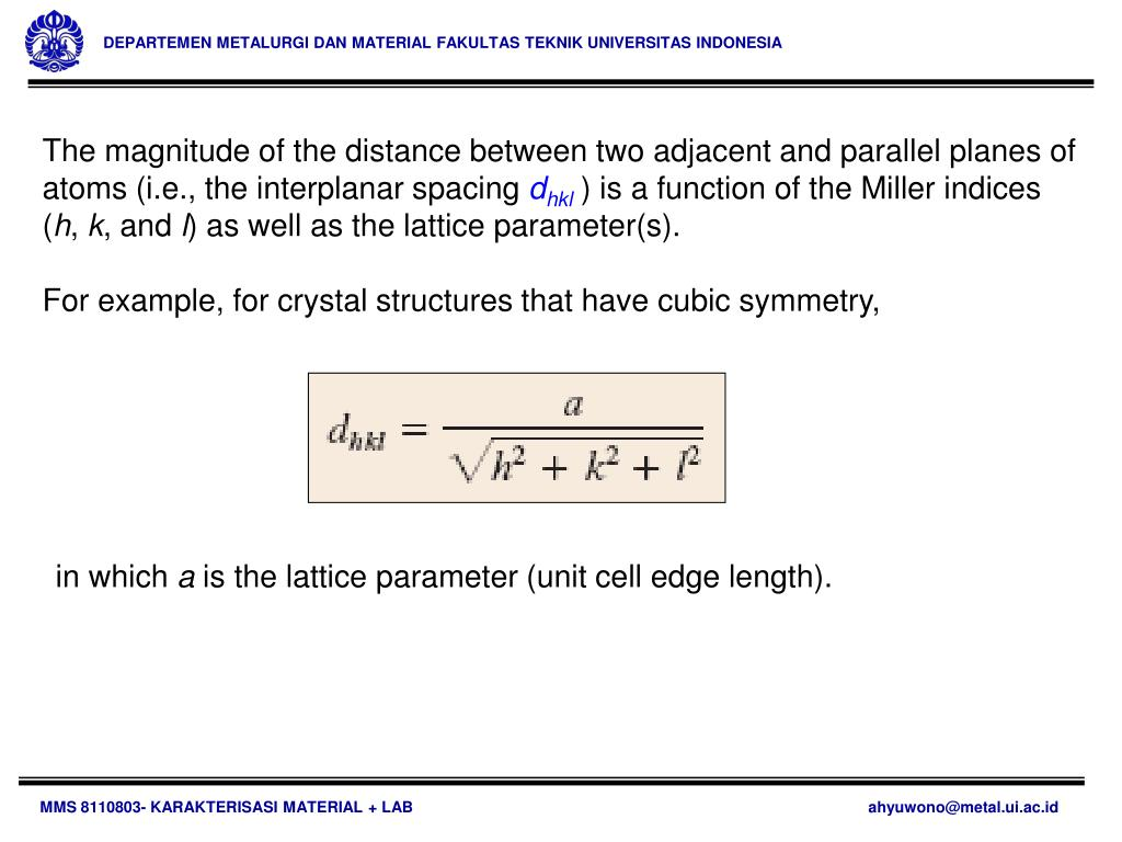 Ppt Mms 8110803 Karakterisasi Material Lab Powerpoint