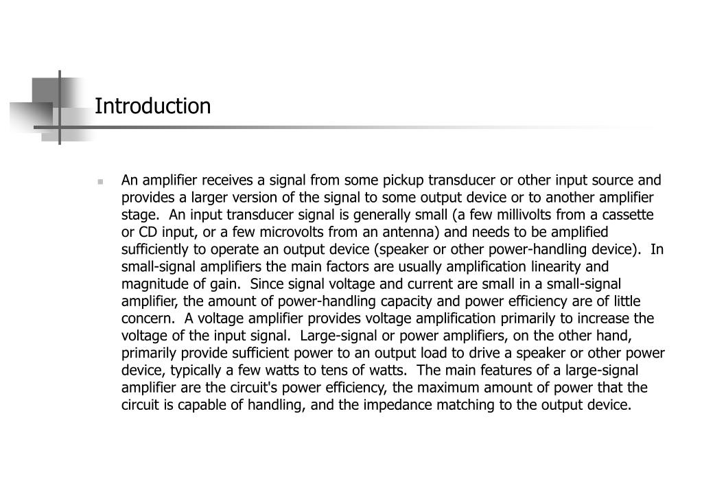 Untuned And Tuned Power Amplifiers PowerPoint