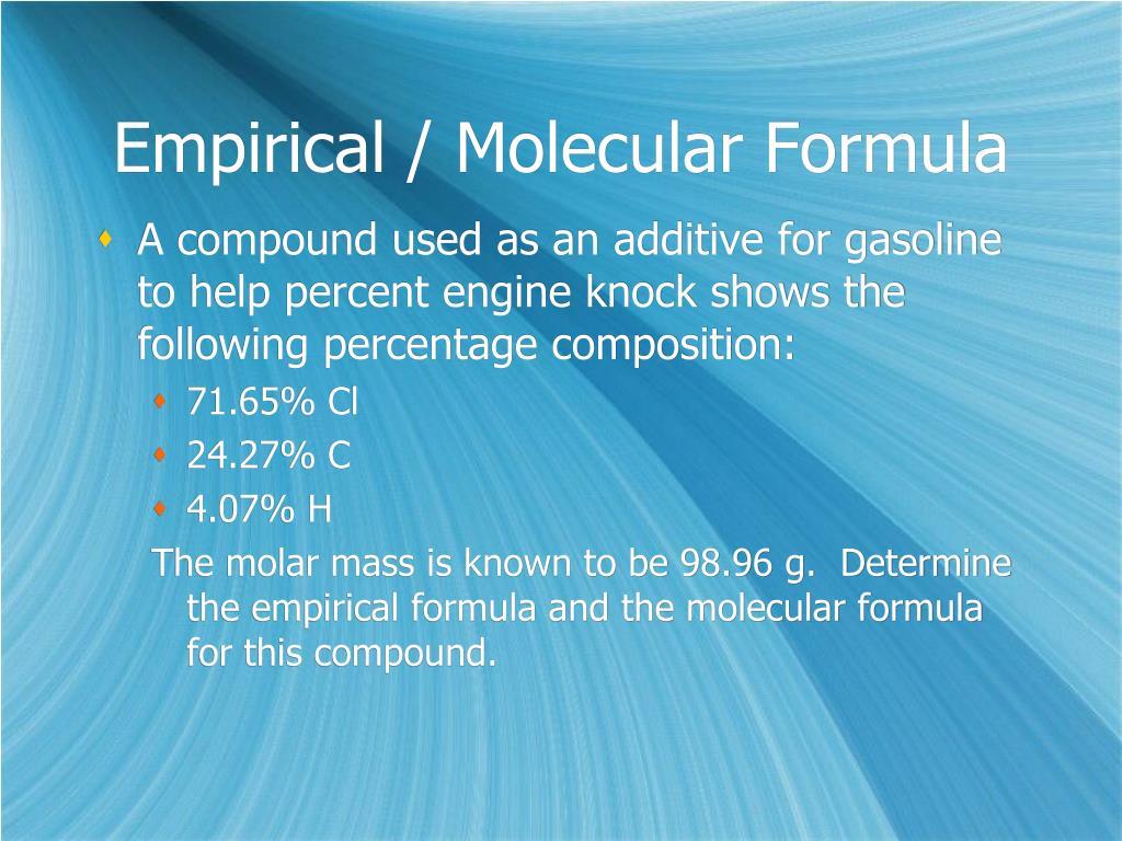 Empirical And Molecular Formula Worksheet Answers An Oxide