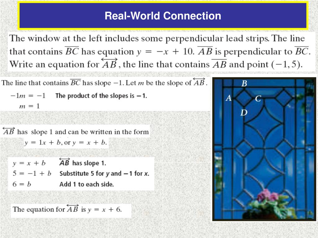 Equations Of Parallel And Perpendicular Lines Worksheet