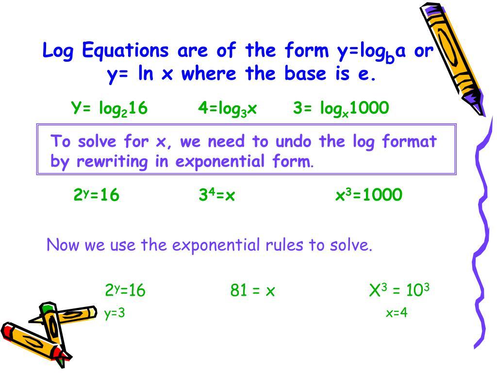 How To Solve Log Equations Algebraically