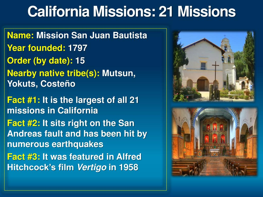 California Missions In Order 1 21
