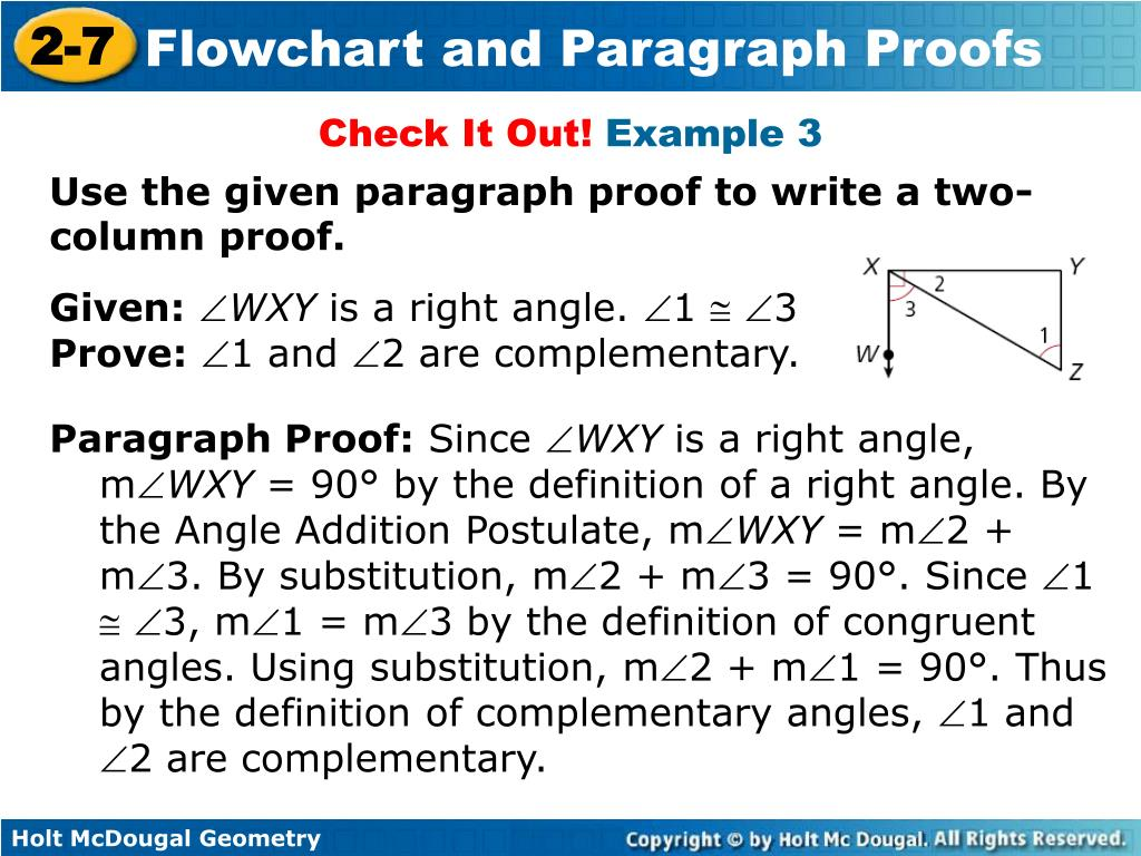 Paragraph Proof Definition Geometry