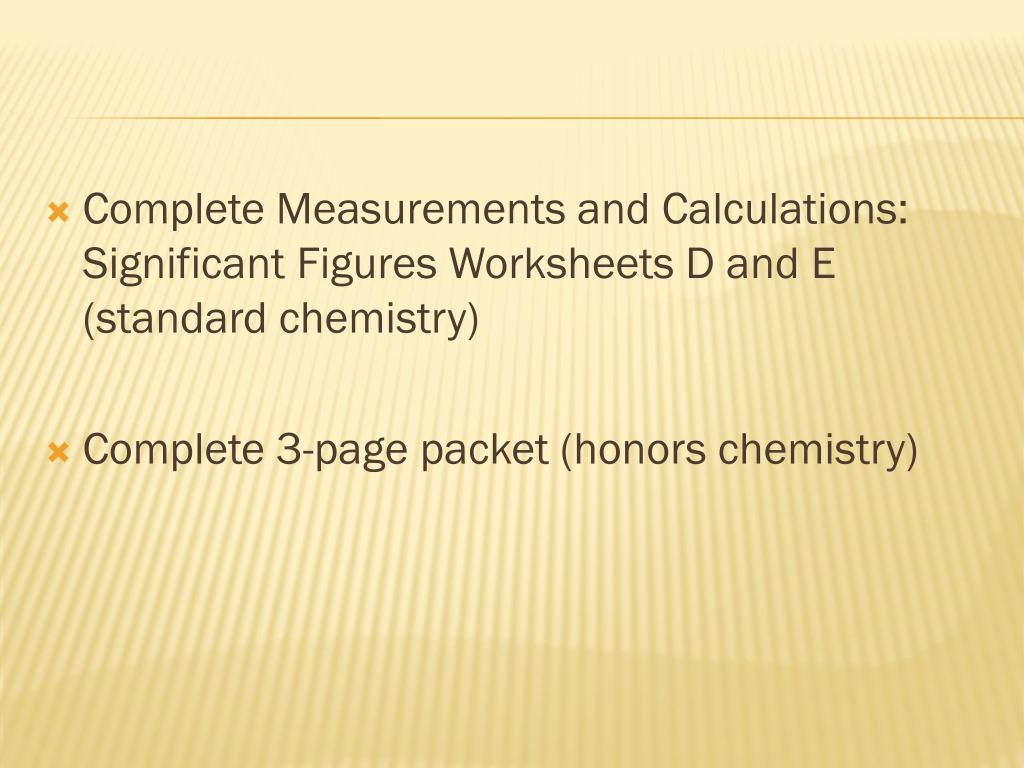 Chemistry Measurements And Calculations Worksheet