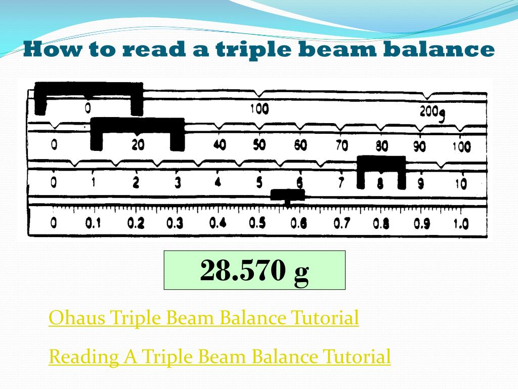 Reading A Triple Beam Balance Worksheet