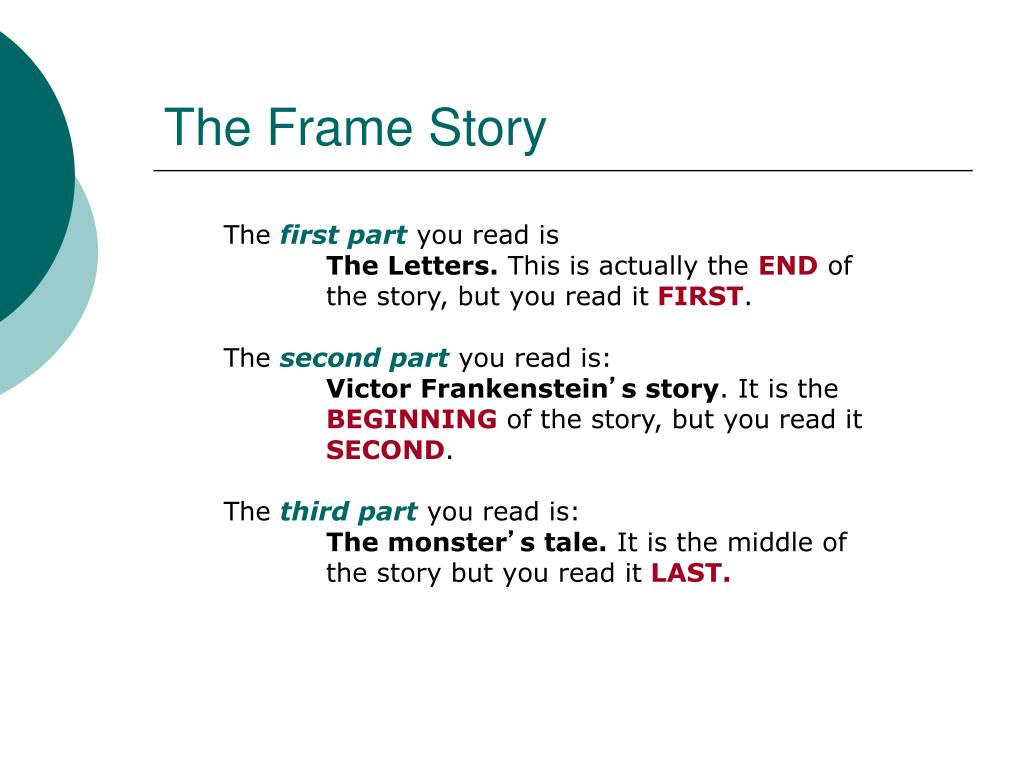 What Is The Frame Story In Frankenstein
