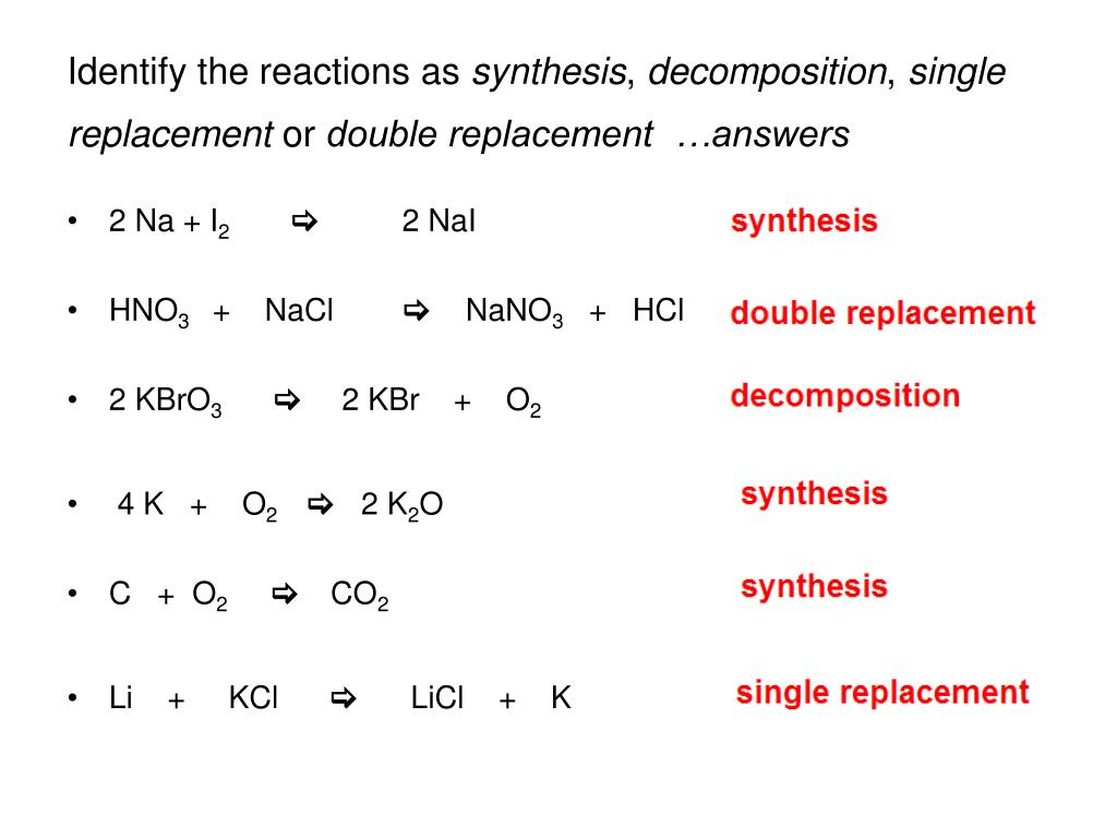 Single Replacement Vs Double Replacement