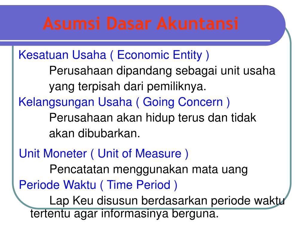Konsep Kesatuan Usaha Dalam Struktur Dasar Akuntansi