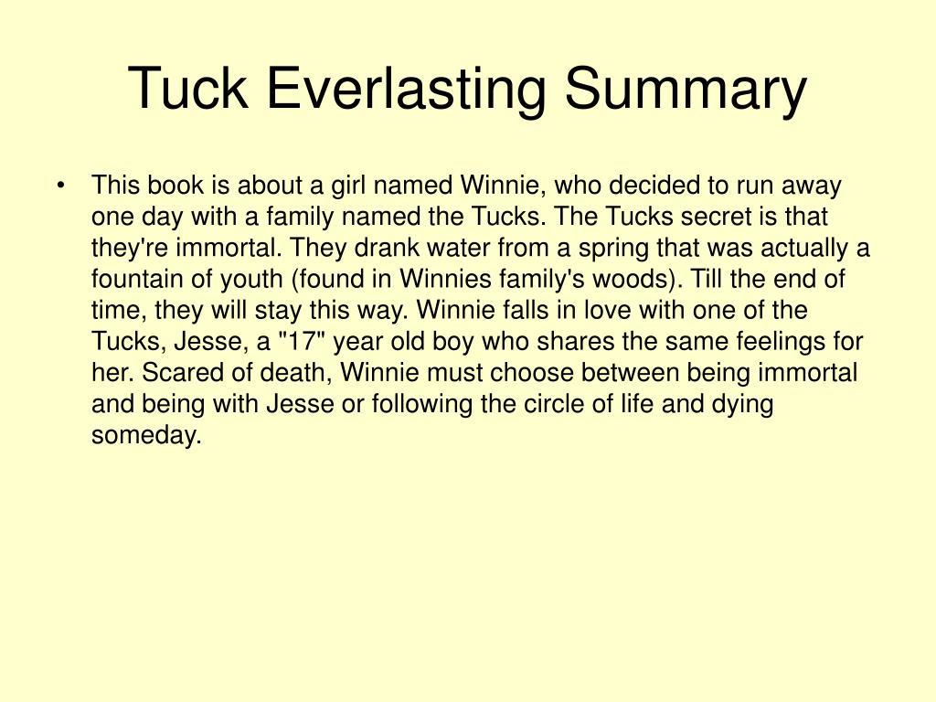 Tuck Everlasting Full Book Summary