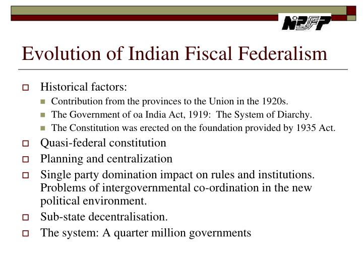 Indian Federalism Ppt