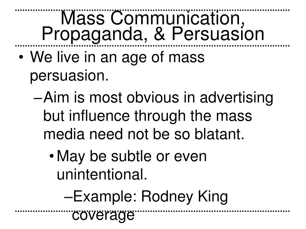 What Is Mass Communication Examples