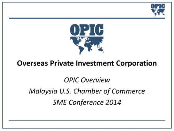 PPT - Overseas Private Investment Corporation PowerPoint ...