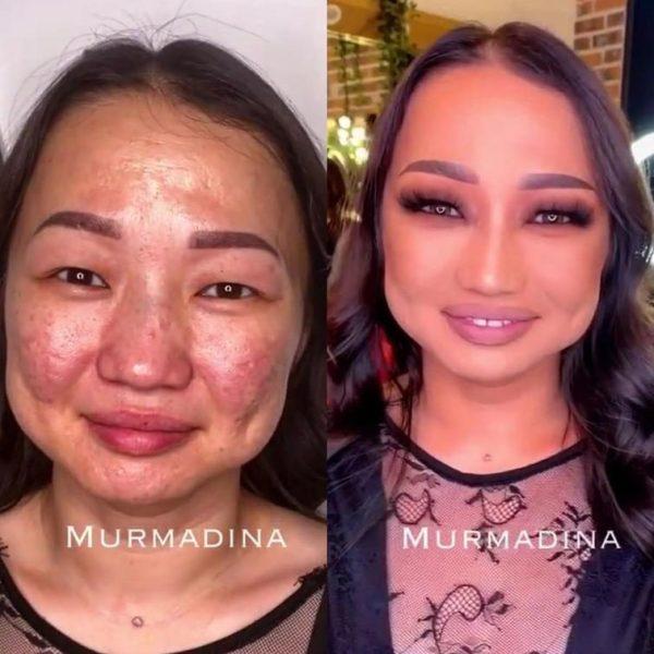 Фото женщин до и после макияжа / Все для женщины
