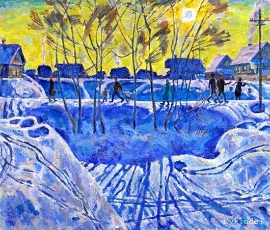Зима на картинах советских художников