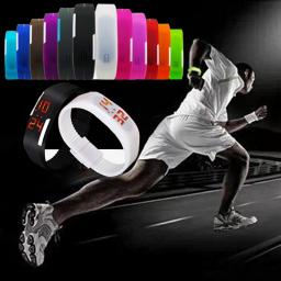 New Fashion Sport LED Silicone Rubber Touch Screen Digital Waterproof  Wristwatch