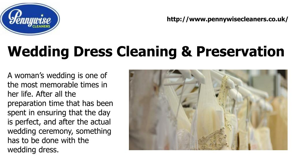 Wedding Dress Cleaning & Preservation PowerPoint