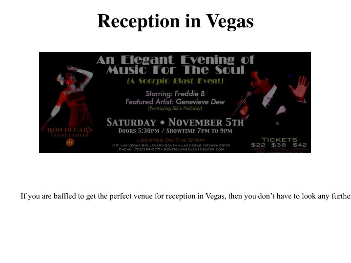Cheap Wedding Reception Las Vegas