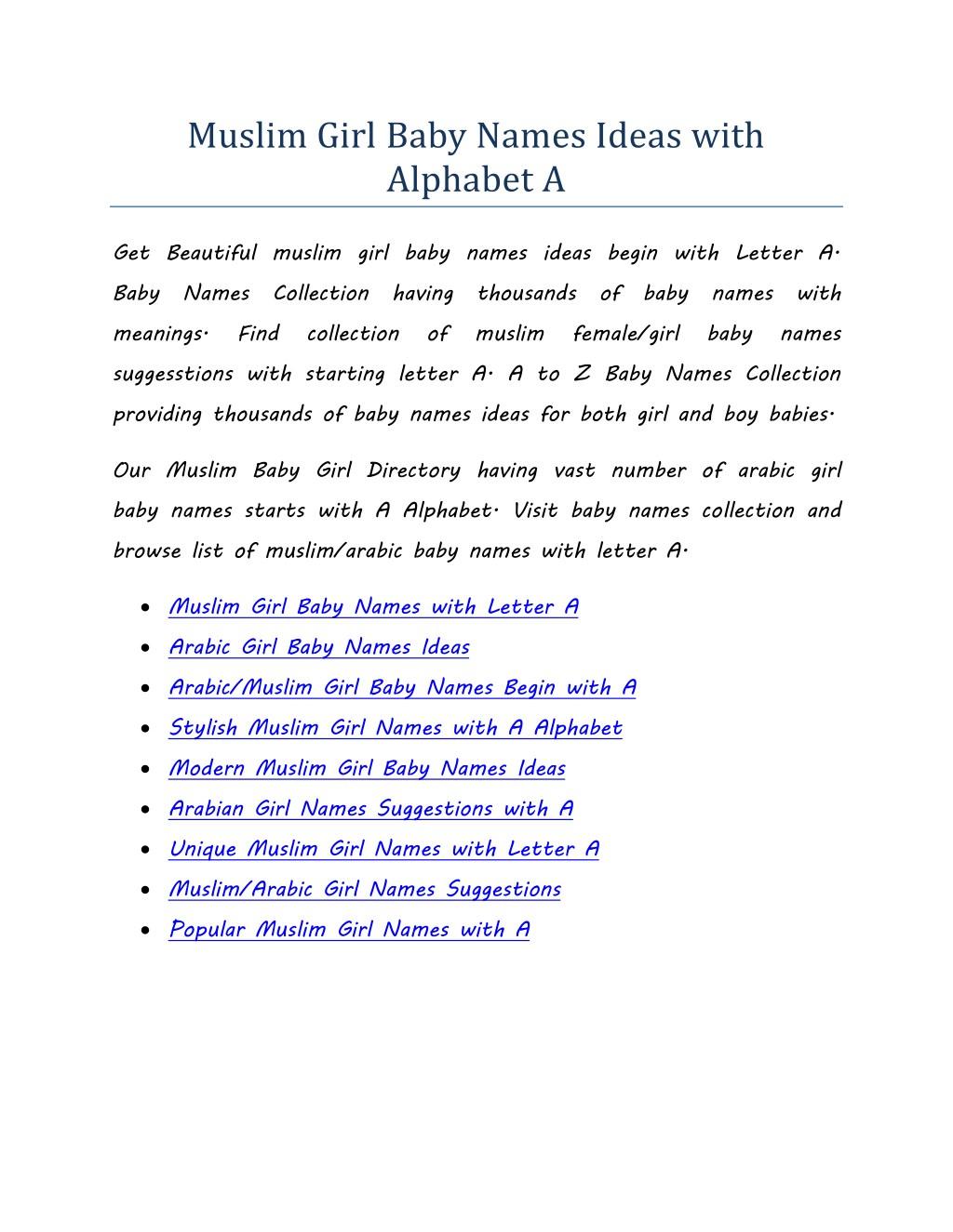 Muslim Girl Names From Quran Www Topsimages Com