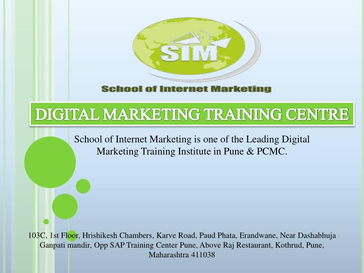 Recent articles subscribe © 2020 the manifest PPT - Digital Marketing Courses Training, Classes in Pune ...