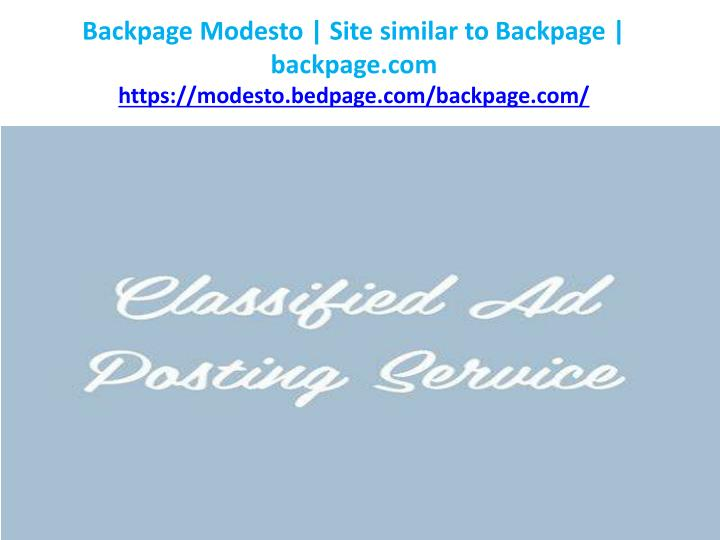 Backpage Modesto Site Similar To Backpage