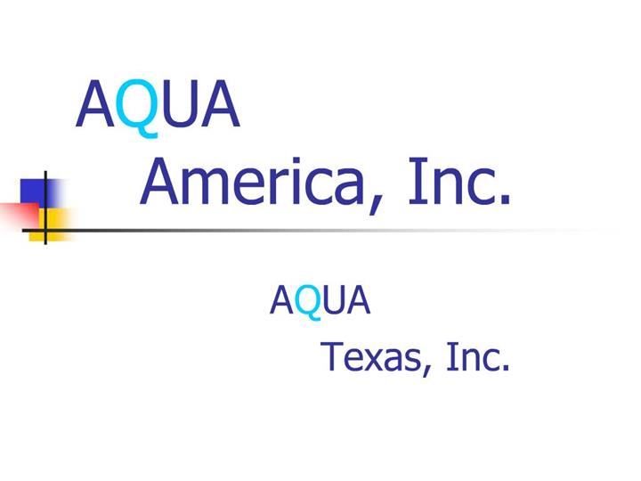 The company noted that in this new position, joyce would direct a core regulatory team at its headquarters that would offer key support functions to a newly decentralized rates operation, the primary work of which would be handled in its regional operations locations. Ppt Aqua America Inc Powerpoint Presentation Free Download Id 982464