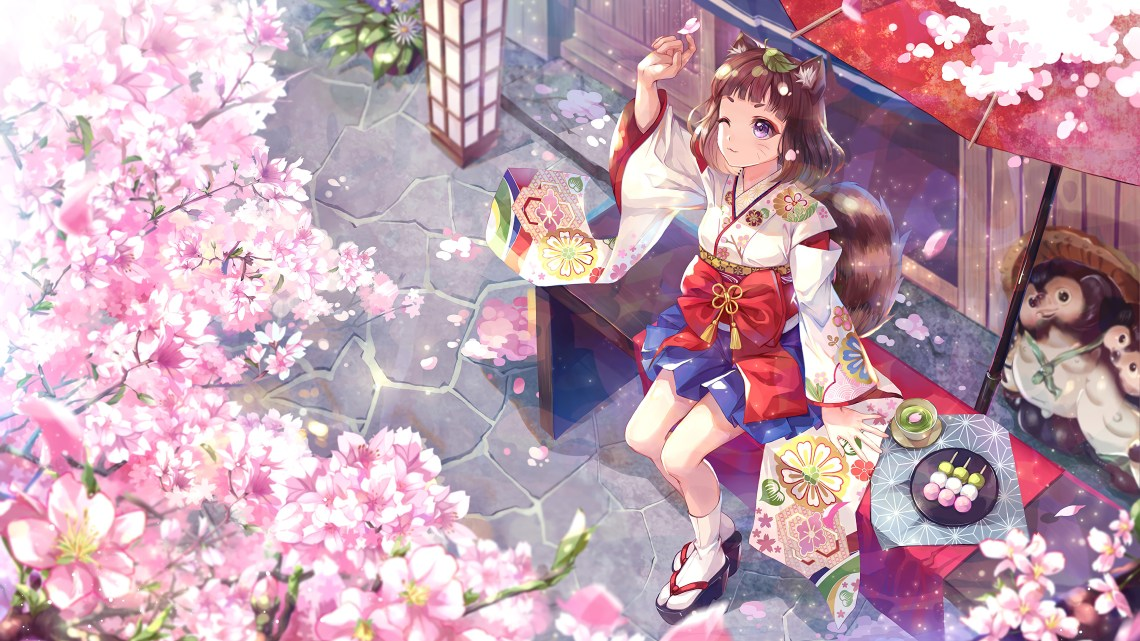 Anime Girl Cherry Blossom 4k Wallpaper 4 642