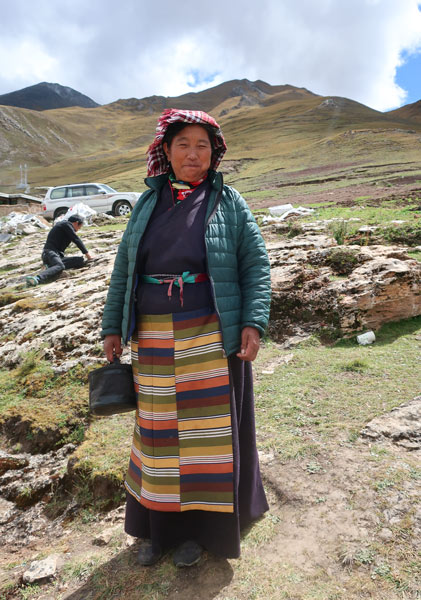 A local woman poses for a photo in Tibet Autonomous Region, 2018. Courtesy of David Dian Zhang