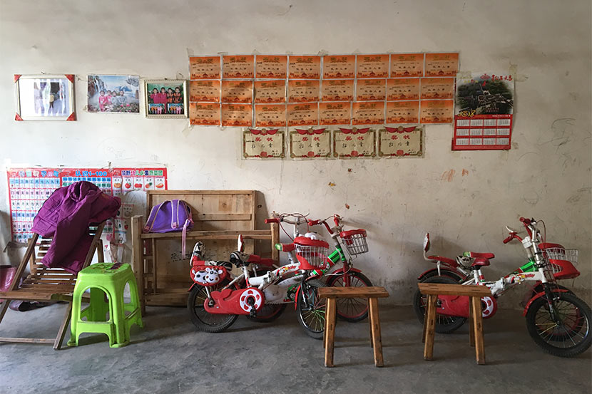 A view inside the quadruplets' house in Xiaomenlu Village, Sichuan province, Jan. 10, 2018. Fan Yiying/Sixth Tone