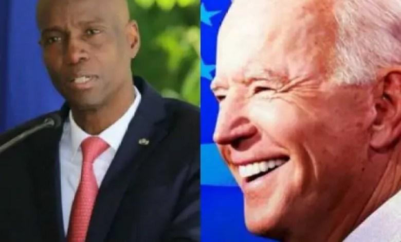 Sit-in devant l'Ambassade américaine à Port-au-Prince - Joe Biden, Jovenel Moïse