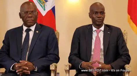 Haiti- Police: Jovenel Moïse, Joseph Jouthe et Léon Charles visitent la commune de carrefour pour féliciter les policiers d'avoir chassé les bandits. - Jovenel Moïse