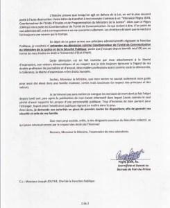 Péguy Jeandémissionnede sonpostede coordonnateur de l'unitédecommunicationduMJSP. - MJSP