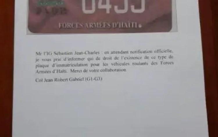 Nouvelles plaques d'immatriculation pour les FAD'H - FADH, Plaque