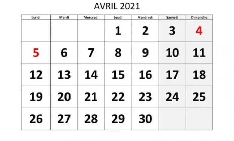 Pâques: les institutions publiques et privées chômeront les 1er et 2 avril 2021 -