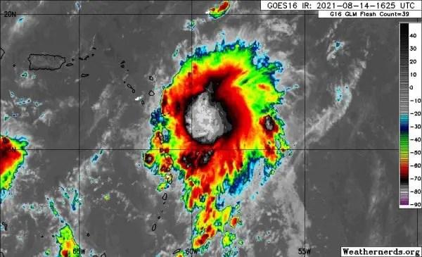 Tempête tropicale Grace : l'alerte rouge est levée - Grace, tempête tropicale