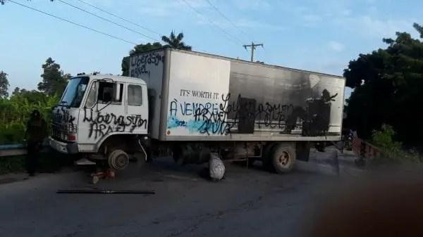 Protestation à l'Arcahaie, pour la libération des prisonniers politiques - Arcahaie