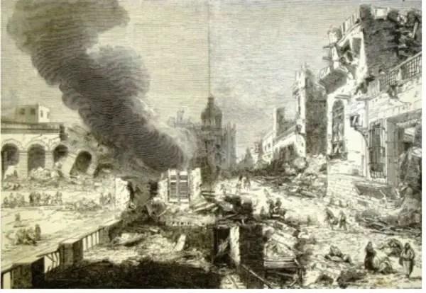 Illustration du séisme de 1842. Google images