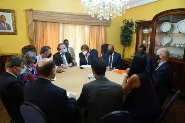 Lors d'une rencontre du PM Ariel Henry et des représentants du Core Group le mercredi 15 septembre 2021