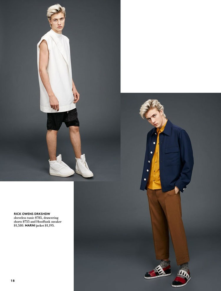 CATALOGUE Lucky Blue Smith for Hudson's Bay Spring 2016. www.imageamplified.com, Image Amplified (3)