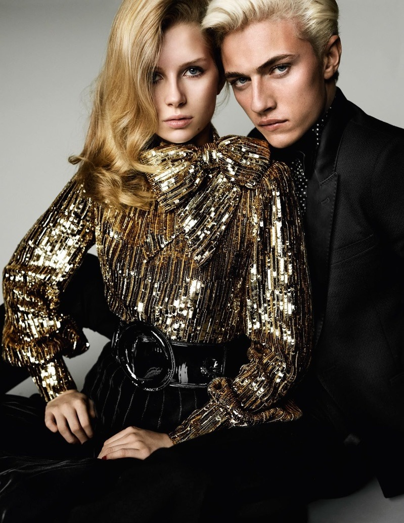 VOGUE PARIS Lottie Moss & Lucky Blue Smith by Mario Testino. Spring 2016, www.imageamplified.comm, Image Amplified (4)