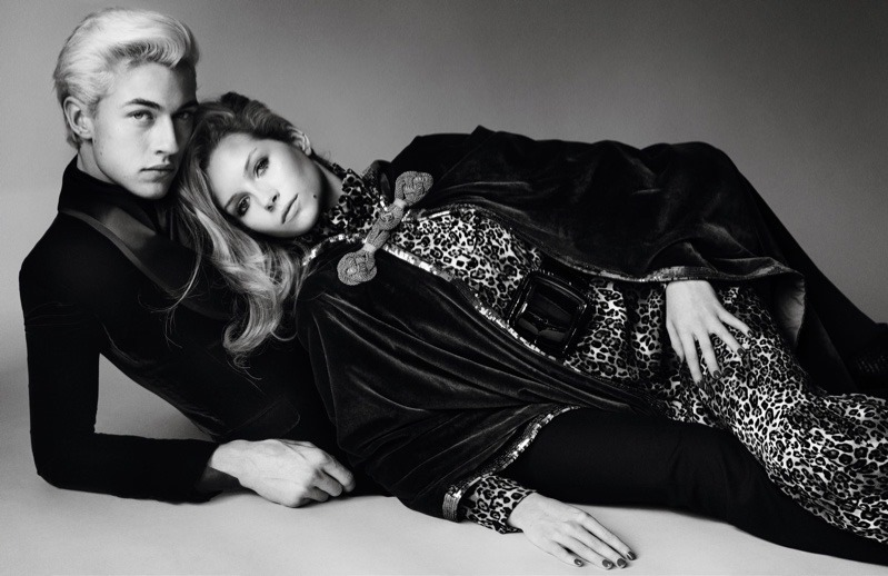 VOGUE PARIS Lottie Moss & Lucky Blue Smith by Mario Testino. Spring 2016, www.imageamplified.comm, Image Amplified (5)