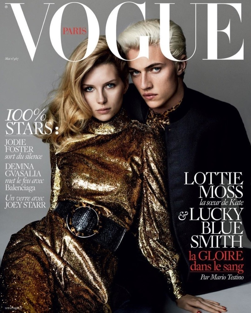 VOGUE PARIS Lottie Moss & Lucky Blue Smith by Mario Testino. Spring 2016, www.imageamplified.comm, Image Amplified (1)