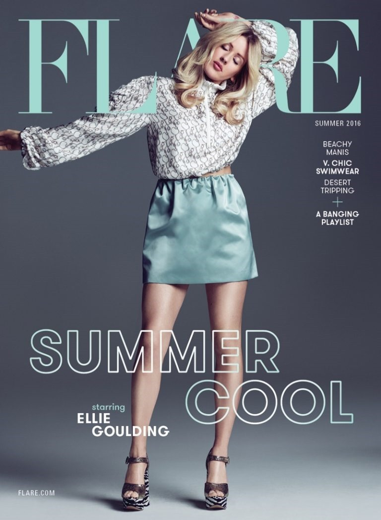 FLARE MAGAZINE Ellie Goulding by Nino Munoz. Pegah Maleknejad, Summer 2016, www.imageamplified.com, Image Amplified (1)